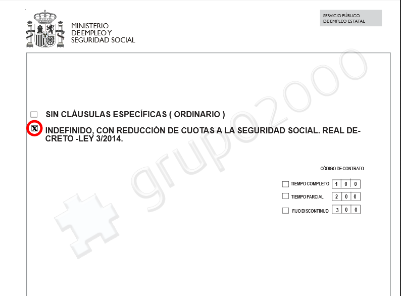 301 moved permanently for Modelo contrato indefinido