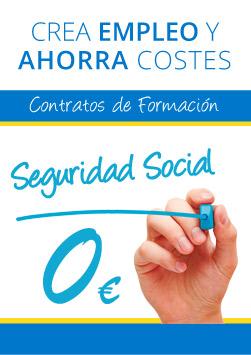 Contratos de formacion, 0 euros en Seguridad social