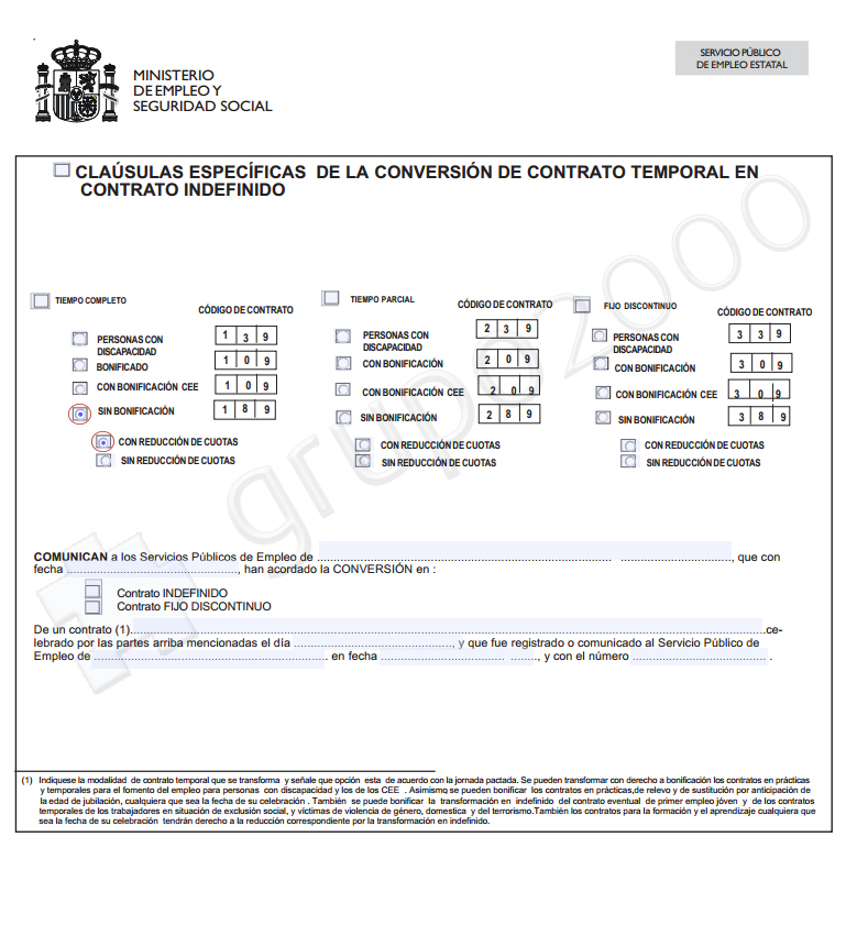 C mo transformar en indefinido un contrato de formaci n for Modelo contrato empleada de hogar indefinido