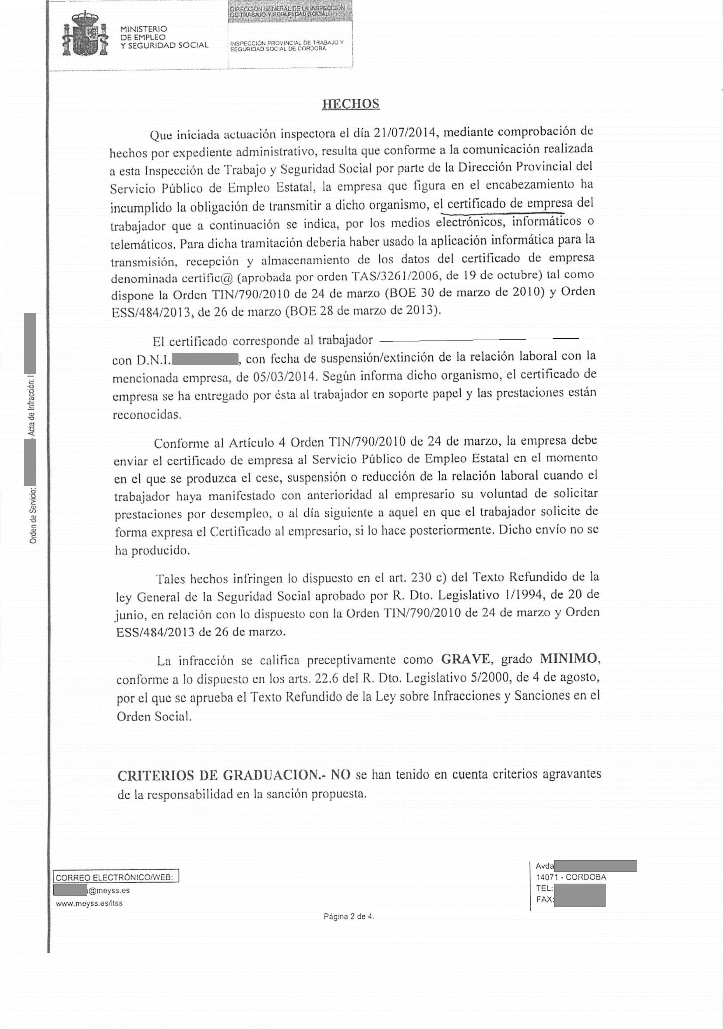 Sanciones A Las Pymes Por No Enviar El Certificado De Empresa