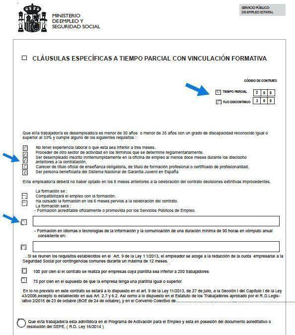 C mo se hace un contrato a tiempo parcial con vinculaci n for Contrato trabajo indefinido servicio hogar familiar
