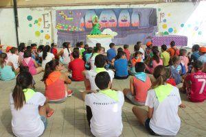 Alumnos disfrutando de las actividades de la semana urbana solidaria