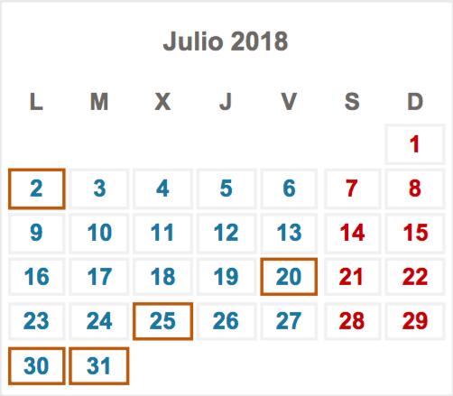Obligaciones fiscales para tu empresa en el mes de julio de 2018