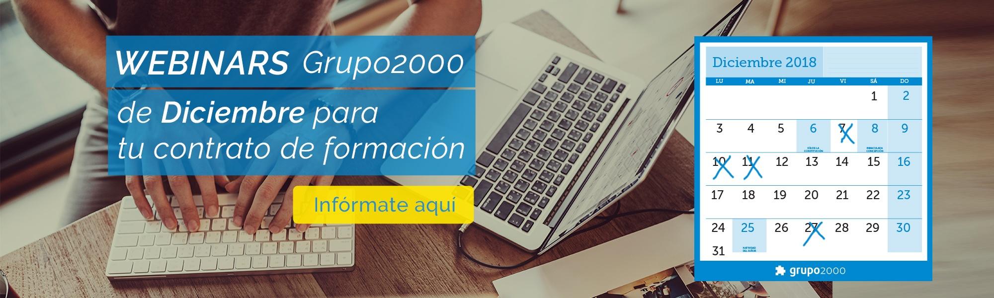 Nuevos webinars Grupo2000