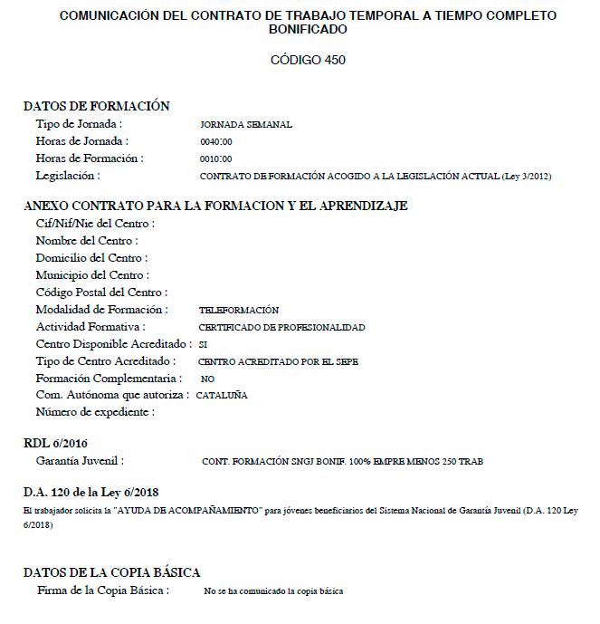 Cómo tramitar los contratos de formación con la ayuda de 430 euros