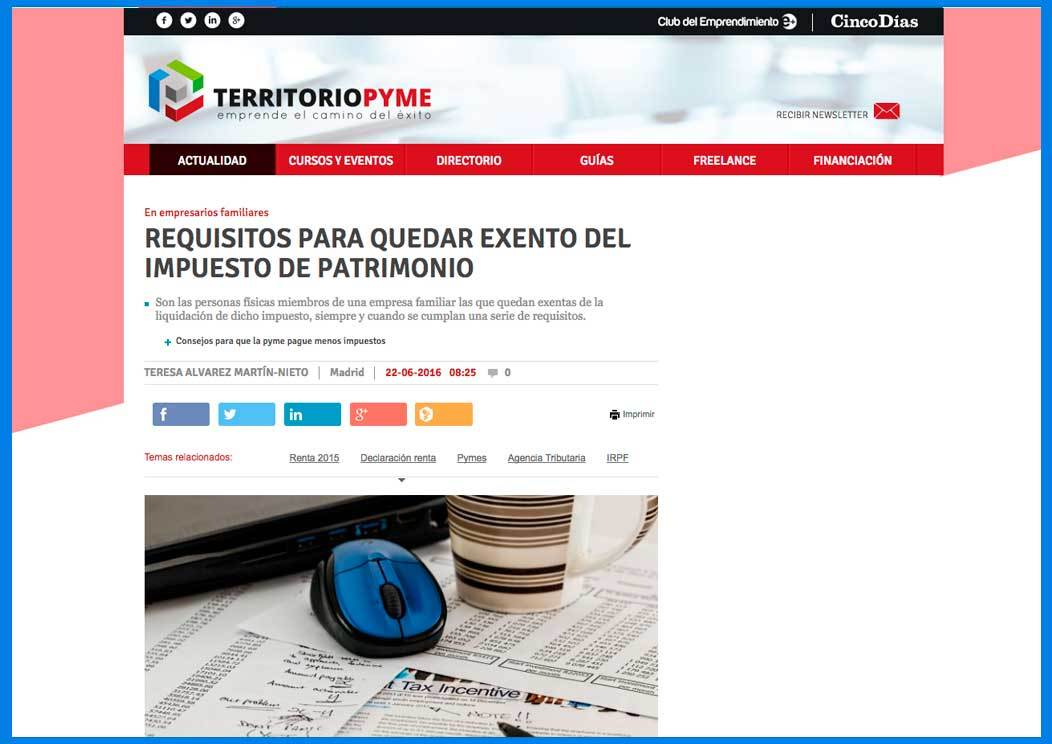 Requisitos exentos del impuesto de patrimonio Grupo2000