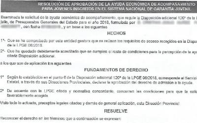Se conceden las primeras ayudas de 430 euros por contrato de formación