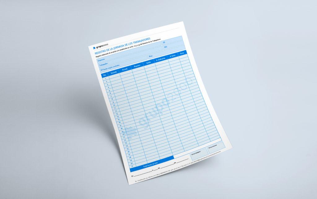 Papel o digital: Cómo registrar la jornada. Descarga un modelo aquí