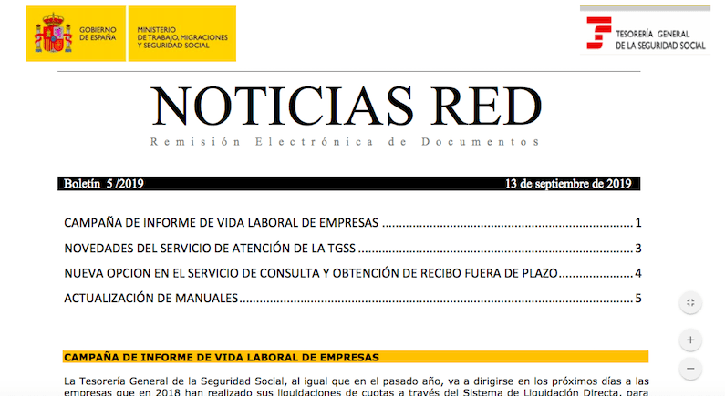 TGSS sólo resolverá incidencias sobre Sistema RED y SLD en estos email