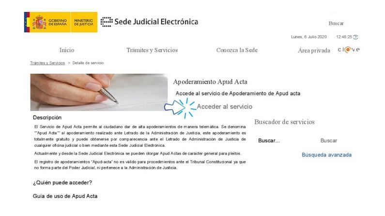 Cómo solicitar un apoderamiento Apud Acta de forma electrónica