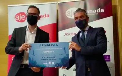 Firmafy recibe el premio de primer finalista de los premios AJE 2020