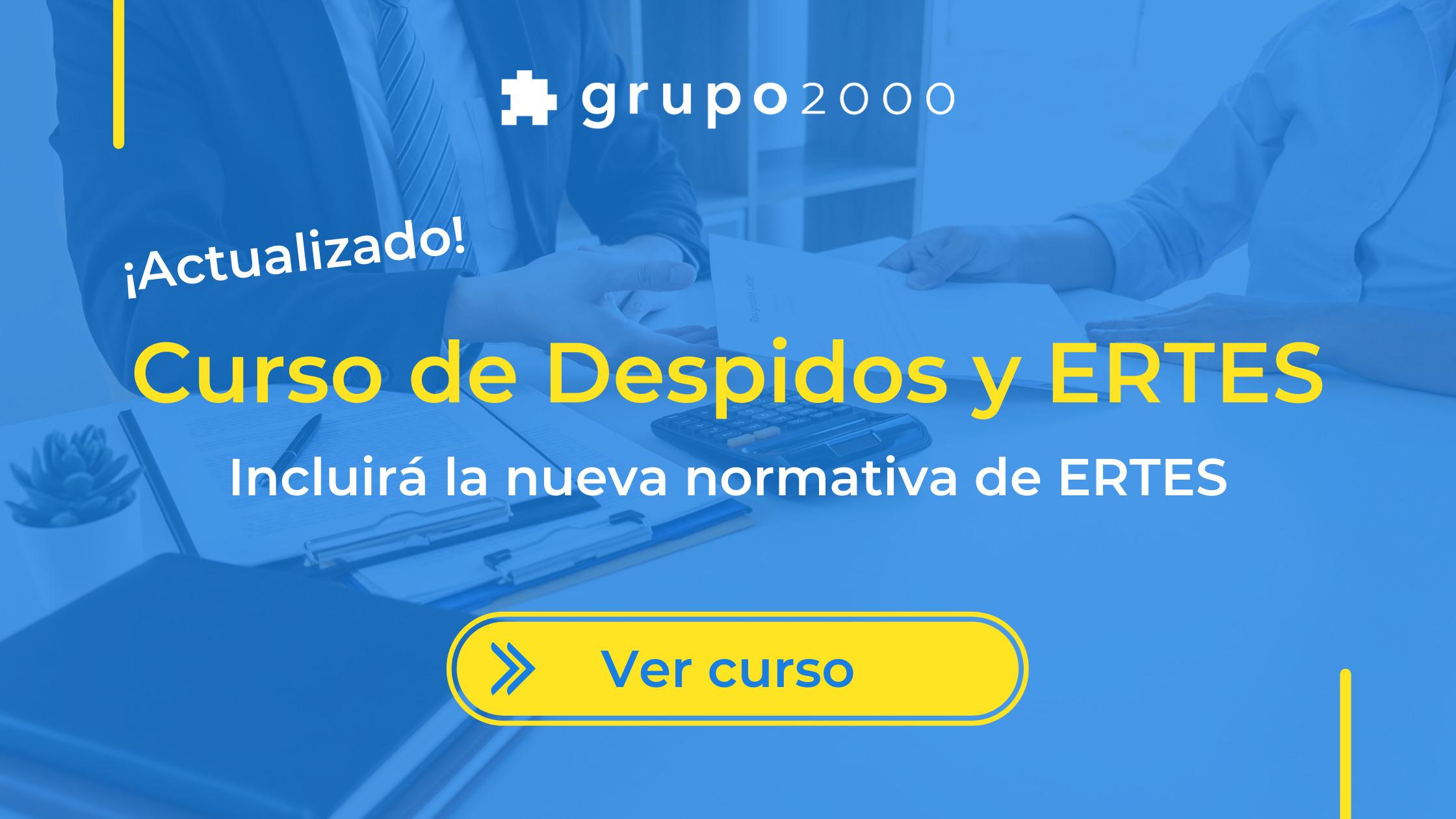 Curso de despidos y ERTES de Grupo2000