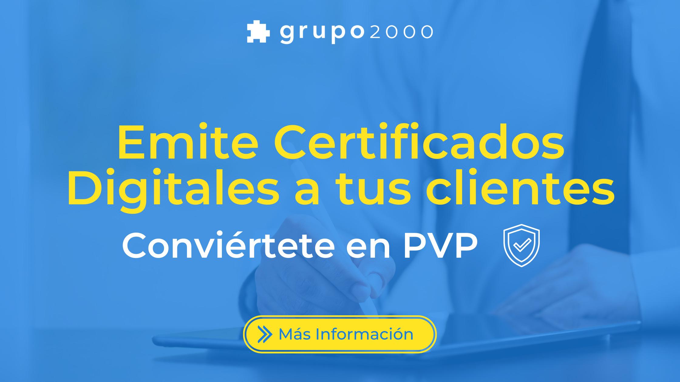 Emitir certificados digitales Grupo2000