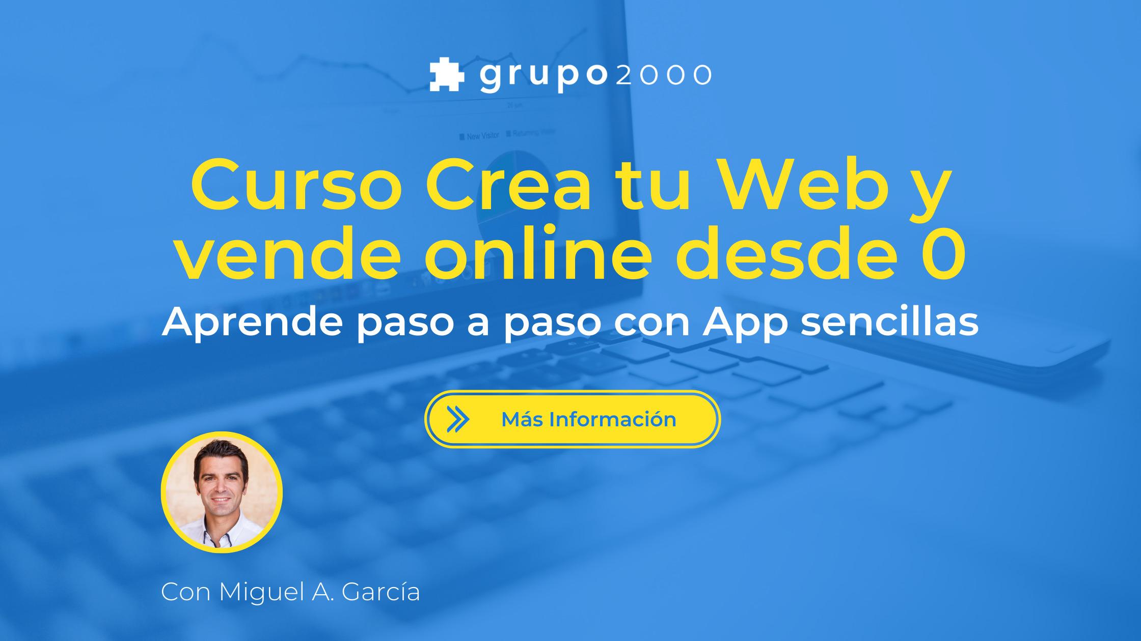 Curso crea tu web y vende online paso a paso desde 0