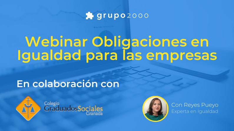 Webinar Obligaciones de Igualdad en colaboración con COGS Granada