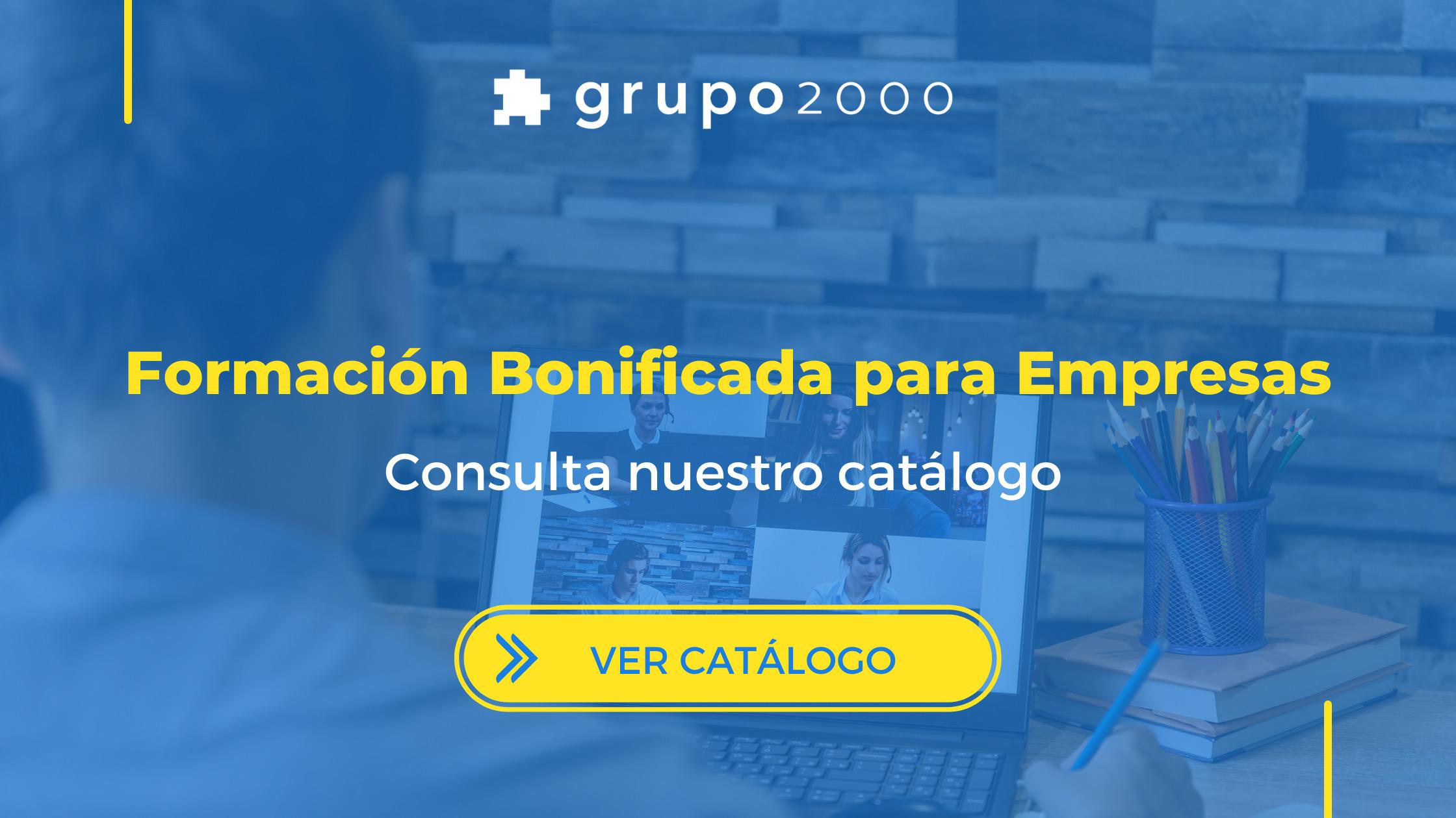 Formación bonificada para empresas de Grupo2000