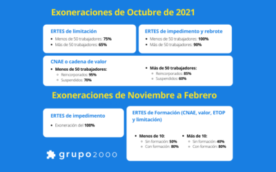 Claves para las exoneraciones de ERTES en Sistema RED desde octubre de 2021